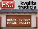 HSG - brány, pohony, mreže, okná